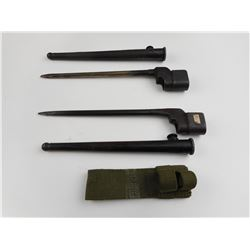 LEE ENFIELD NO4 SPIKE BAYONETS WITH SCABBARDS