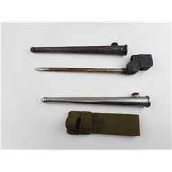 LEE ENFIELD NO4 SPIKE BAYONET AND SCABBARD