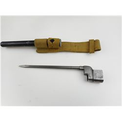 LEE ENFIELD NO4 MKII SPIKE BAYONET WITH SCABBARD AND FROG