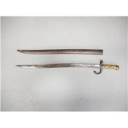 FRENCH CHASSEPOT M1866 BAYONET AND SCABBARD
