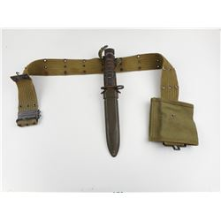 U.S M4 BAYONET AND SCABBARD FOR M1 CARBINE WITH SLING AND MAGAZINE POUCH