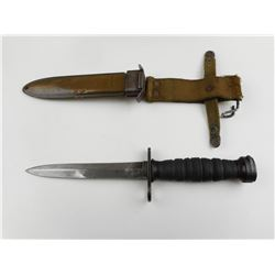 US M4 RUBBER HANDLED BAYONET AND SCABBARD FOR M1 CARBINE