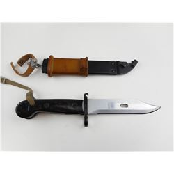 RUSSIAN AKM BAYONET AND SCABBARD FOR AN 7.62MM RIFLE