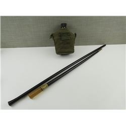 SWAGGER STICKS AND MILITARY WATER CANISTER