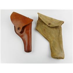 WWII BRITISH HOLSTER AND UNKNOWN HOLSTER