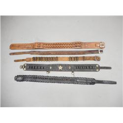 ASSORTED LEATHER AMMO BELTS