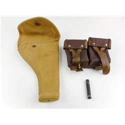 WWII CANADIAN HOLSTER, STRIPPER CLIP POUCH AND M1 CARBINE OILER