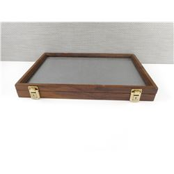 WOODEN SHADOW BOX CASE TO HOLD MEDALS