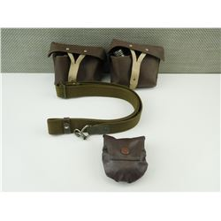 ASSORTED POUCHES, SLINGS AND OILERS