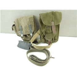 ASSORTED AK46 POUCHES AND SLINGS