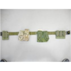 US PISTOL BELT WITH MAGAZINE POUCHES