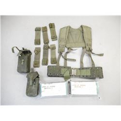 ASSORTED CANADIAN MILITARY 82 PATTERN WEBBING