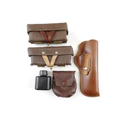 SKS LEATHER POUCHES AND OILER