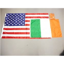 IRELAND AND USA FLAGS
