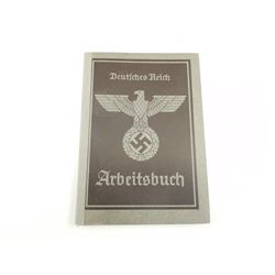 WWII GERMAN EMPLOYMENT RECORD BOOKLET