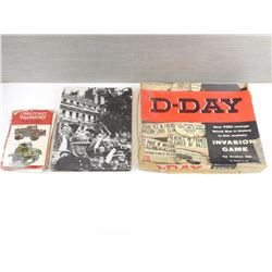 ASSORTED WWII BOOKS AND BOARD GAME
