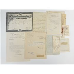 WWI DEATH CERTIFICATE AND DOCUMENTS