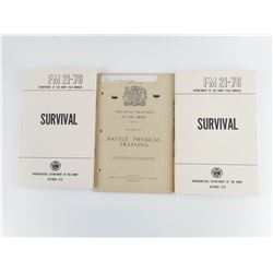 ASSORTED ARMY SURVIVAL AND TRAINING BOOKLETS