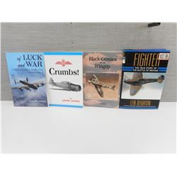 ASSORTED FIGHTER PILOT BOOKS