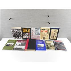 ASSORTED WAR/MILITARY TYPE BOOKS