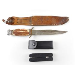 ORIGINAL BOWIE KNIFE WITH SHEATH AND MULTI-TOOL