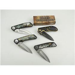 ASSORTED POCKET FLIP KNIVES WITH BELT CLIP