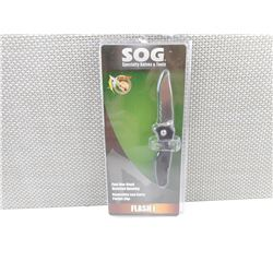 SOG SPECIALTY KNIVES & TOOLS FLASH I, IN PACKAGE