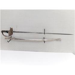 BRITISH 1897 PATTERN INFANTRY OFFICER PIQUET WEIGTH SWORD WITH SCABBARD