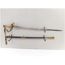 UNITED STATES NAVAL SWORD MODEL 1852 WITH SCABBARD