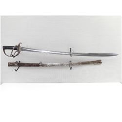 1853 PATTERN CAVALRY SWORD  LOWER CANADA  MARKED WITH SCABBARD