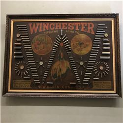 RARE, 1890 ORIGINAL WINCHESTER CARTRIDGE BOARD