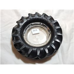 FIRESTONE TIRE ASHTRAY ( CLEAR)