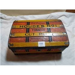 LARGE SIZE TOBACCO TIN ( HOUDES #1 TOBACCO TIN)