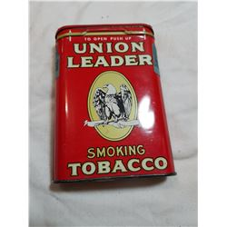 UNION LEADER TOBACCO TIN -FULL (SMELLS GREAT)