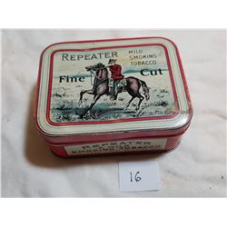 REPEATER TOBACCO TIN (GREAT CONDITION)
