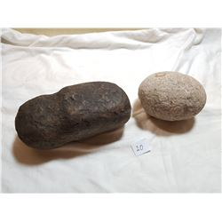 LOT OF 2 FIELD STONES