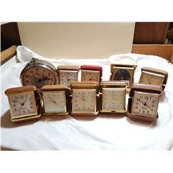 LOT OF TRAVELLING CLOCKS (WESTCLOX INCLUDED) *AS IS*