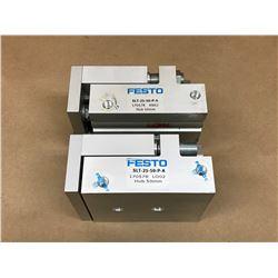 (2) FESTO SLT-25-50-P-A MINI SLIDE ASSEMBLY