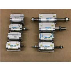 (8) FESTO MISC. PNEUMATIC CYLINDER *SEE PICS FOR PART #*