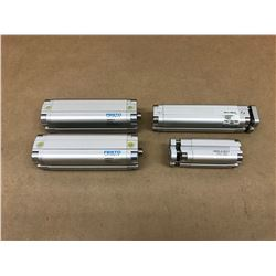 (4) FESTO MISC. PNEUMATIC CYLINDER *SEE PICS FOR PART #*