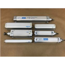 (7) FESTO MISC. PNEUMATIC CYLINDER *SEE PICS FOR PART #*