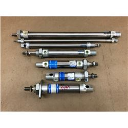 LOT OF  FESTO MISC. PNEUMATIC CYLINDER *SEE PICS FOR PART #*
