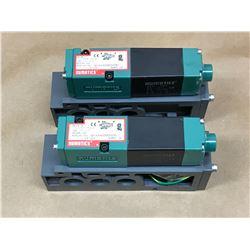 (2) NUMATICS 081SA400M000061 SOLENOID VALVE W/ MOUNTING BLOCK