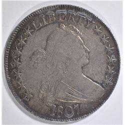 1807 DRAPED BUST HALF XF