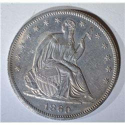 1860 SEATED LIBERTY HALF DOLLAR CH BU