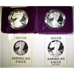 1987 & 1990 PROOF AMERICAN SILVER EAGLES