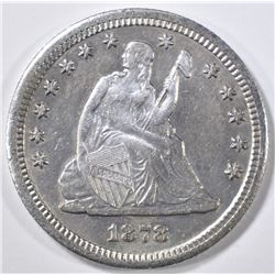 1878-CC SEATED LIBERTY QUARTER AU/BU