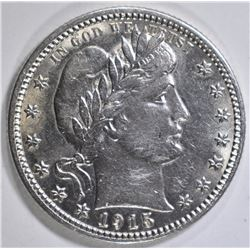 1915 BARBER QUARTER AU/BU LIGHT MARKS