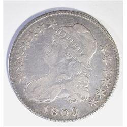 1809 BUST  HALF DOLLAR, VF