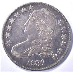 1831 BUST HALF DOLLAR, AU
